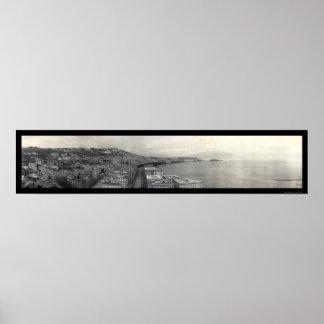 Italien-Bucht von Neapel-Foto 1909