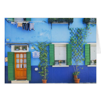 Italien, Burano. Ein buntes Haus in Burano nahe Grußkarte
