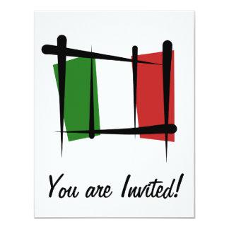 Italien-Bürsten-Flagge 10,8 X 14 Cm Einladungskarte