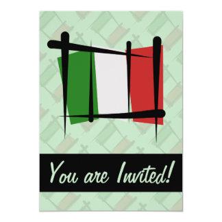 Italien-Bürsten-Flagge 12,7 X 17,8 Cm Einladungskarte