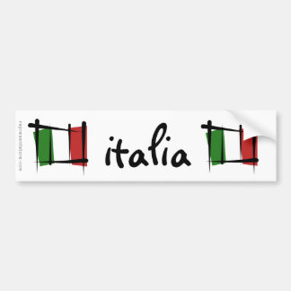 Italien-Bürsten-Flagge Autoaufkleber