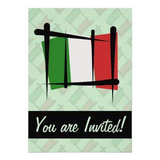 Italien-Bürsten-Flagge Personalisierte Einladungen