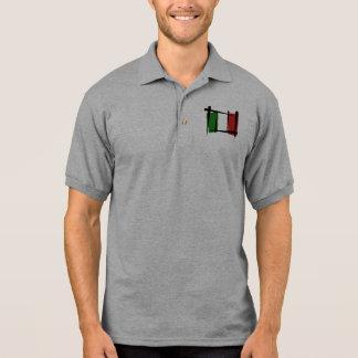 Italien-Bürsten-Flagge Polo Shirt