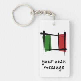 Italien-Bürsten-Flagge Schlüssel Anhänger