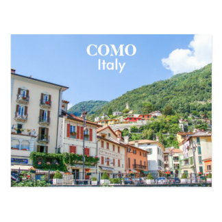 Italien- - Como Stadthäuser Postkarte