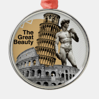 Italien, die große Schönheit Rundes Silberfarbenes Ornament