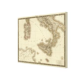 Italien, die Schweiz, Illyria Nord Gespannte Galeriedrucke