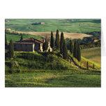 Italien. Ein Hirtentoskana-Landhaus in Val d'Orcia Grußkarte