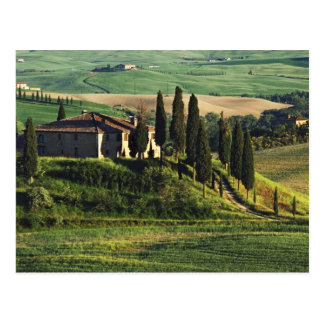 Italien. Ein Hirtentoskana-Landhaus in Val Postkarte