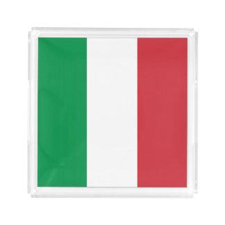 Italien-Flagge Acryl Tablett
