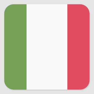 Italien-Flagge - emoji Twitter Quadratischer Aufkleber