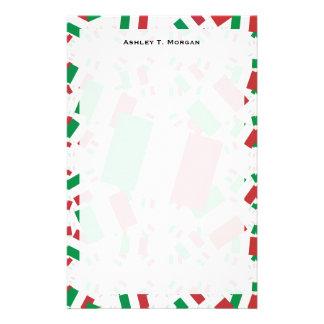 Italien-Flagge in den mehrfachen bunten Schichten Personalisiertes Büropapier