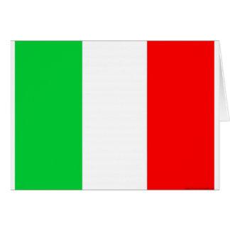 Italien-Flagge - italienische Flagge Grußkarte
