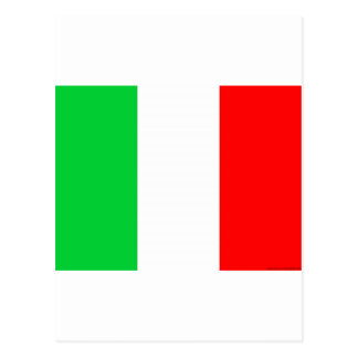 Italien-Flagge - italienische Flagge Postkarte