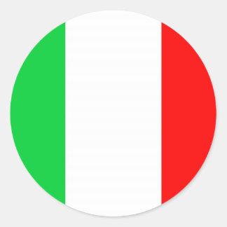Italien-Flagge - italienische Flagge Runder Aufkleber