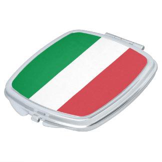 Italien-Flagge Taschenspiegel