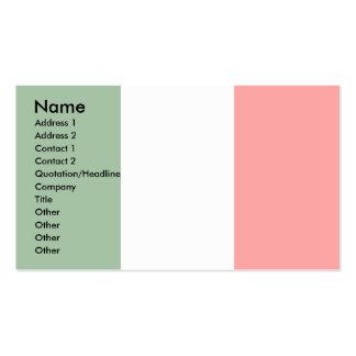 Italien-Flagge Visitenkarte