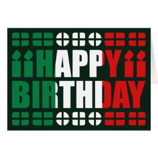 Italien-Flaggen-Geburtstags-Karte Grußkarte