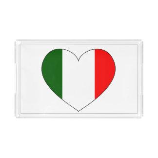 Italien-Flaggen-Herz Acryl Tablett
