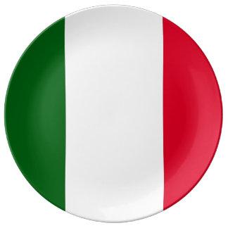 ITALIEN-Flaggen-Porzellan-Platte Porzellanteller