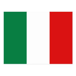 Italien-Flaggen-Postkarte Postkarten