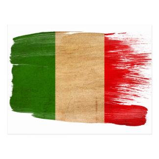 Italien-Flaggen-Postkarten Postkarte