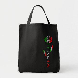Italien-Flaggen-Rose Tragetasche