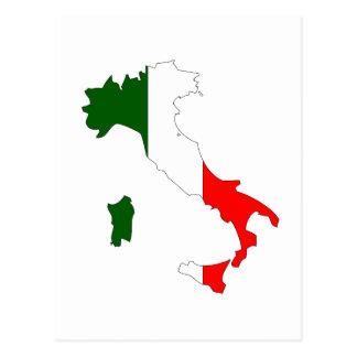 Italien-Flaggenkarte Postkarte