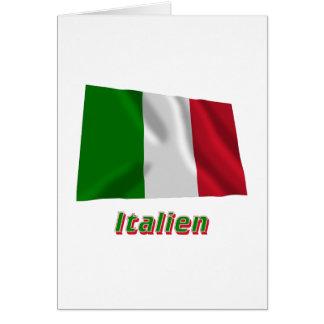 Italien Fliegende Flagge MIT Namen Karte