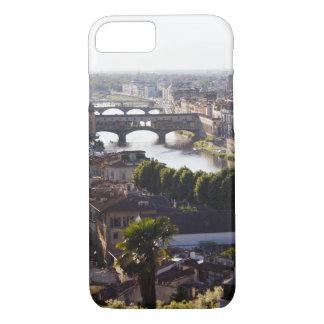 Italien, Florenz, Ponte Vecchio und der Arno iPhone 8/7 Hülle