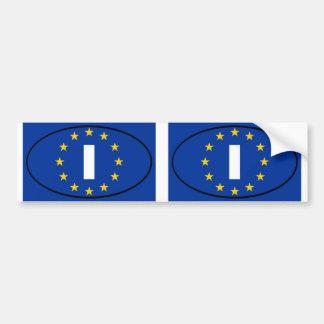 Italien - I - europäisches Gewerkschaftsoval Autoaufkleber