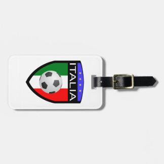 Italien-/Italien-Flaggen-Flecken - mit Fußball Gepäckanhänger
