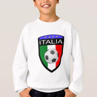 Italien-/Italien-Flaggen-Flecken - mit Fußball Sweatshirt