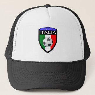 Italien-/Italien-Flaggen-Flecken - mit Fußball Truckerkappe