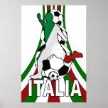 Italien Italien, Kalikofußball-Fußballplakate Plakatdruck