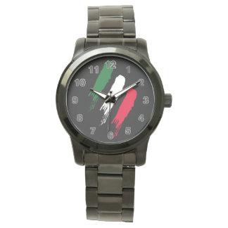 Italien-Italiener-Italien-Flagge Tricolore Entwurf Armbanduhr