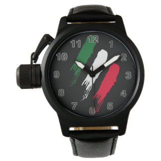 Italien-Italiener-Italien-Flagge Tricolore Entwurf Uhr