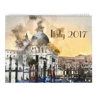 Italien-Kunst-Aquarell 2017 Wandkalender