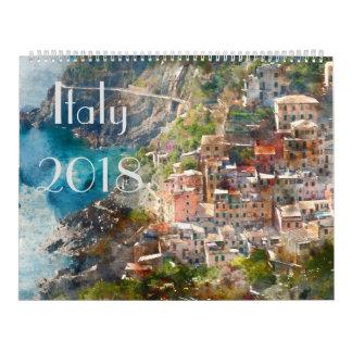 Italien-Kunst-Aquarell 2018 Kalender