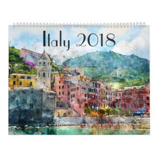Italien-Kunst-Aquarell 2018 Wandkalender