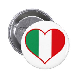 Italien-Liebe Runder Button 5,7 Cm