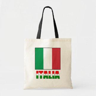 Italien mit der Flagge von Italien Budget Stoffbeutel