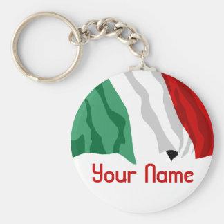 Italien-Name - FLAGGE Standard Runder Schlüsselanhänger