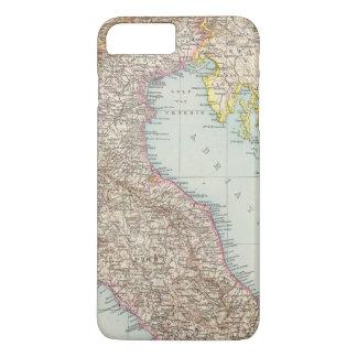 Italien nordliche Halfte, Karte von Norditalien iPhone 8 Plus/7 Plus Hülle