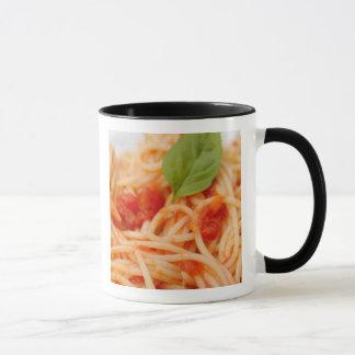 Italien, Orta, See Orta, Spaghettis mit Tomate Tasse