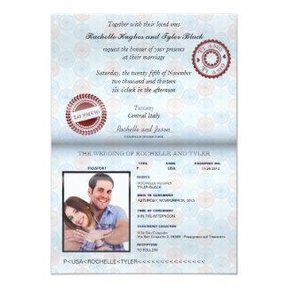 Italien-Pass-(übertragen) Hochzeits-Einladung II 12,7 X 17,8 Cm Einladungskarte