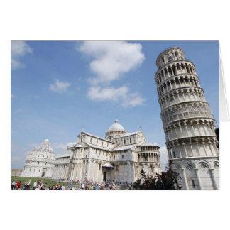 Italien, Pisa. Kathedrale, Baptistry und Lehnen Karte
