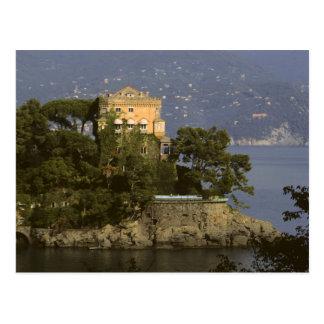 Italien, Portofino. Landschaftliches Leben auf Postkarte