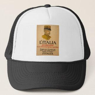 Italien-Propaganda des Plakats ww1 Truckerkappe