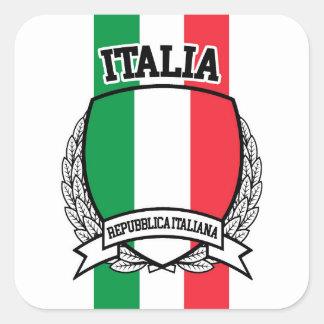 Italien Quadratischer Aufkleber